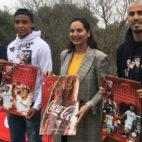Muriel y Pizarro, en el acto organizado por Coca Cola