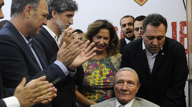 Caparrós y Pablo Alfaro, en el homenaje a Roberto Alés (J. Spínola)