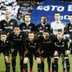 Los jugadores del Sevilla FC antes del encuentros ante el Leganés. Foto: LaLiga