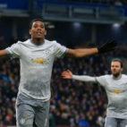 Martial celebra el gol con el que le dio la victoria al United en su visita al Burnley (Foto: AFP Photo)