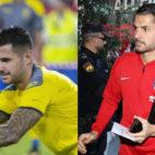 Vitolo, en su partido con Las Palmas en el Sánchez-Pizjuán y este martes en la llegada con el Atlético de Madrid
