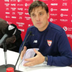 Montella en la rueda de prensa previa al Sevilla - Betis