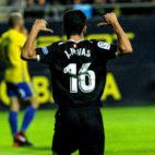 Navas celebra un gol en el Cádiz-Sevilla (EFE)