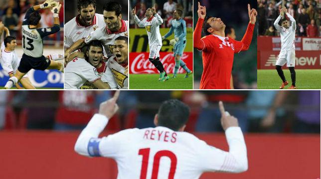 De 2003 a 2016, los cinco goles que le marcó Reyes al Betis con la camiseta del Sevilla
