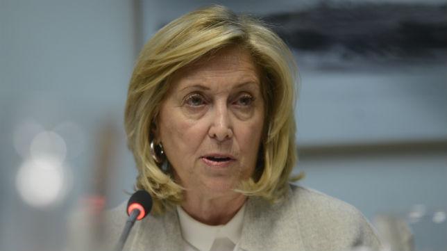 Concepción Dancausa, en una reunión de la Junta de Seguridad de Madrid (Foto: Maya Balanya)