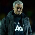 Jose Mourinho, en un partido con el Manchester United