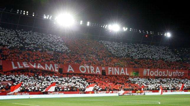 Tifo del Sevilla-Leganés (EFE)