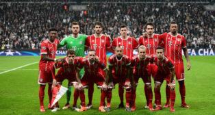 Alineación del Bayern en la vuelta ante el Besiktas en octavos