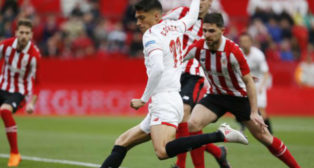 Correa en una acción del Sevilla FC- Athletic