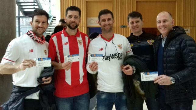 Aficionados del Sevilla en Manchester