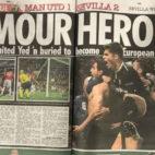 Captura de uno de los periódicos ingleses