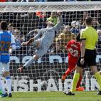 Instante en el que Bustinza hace el 1-0 en el Leganés-Sevilla FC