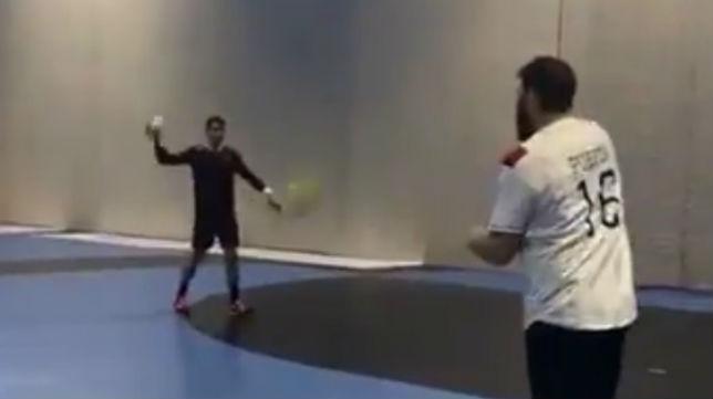 Juan Andreu durante el entrenamiento
