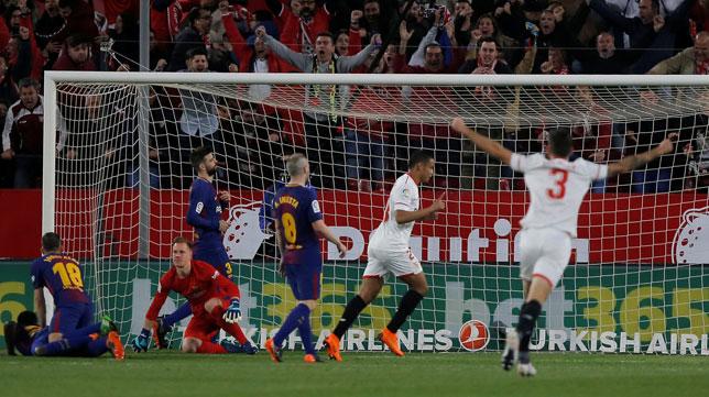 Muriel celebra el 2-0 ante el Barcelona (Foto: Reuters).