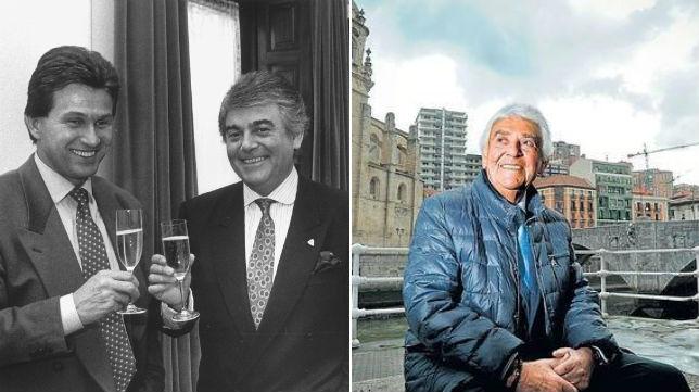Lertxundi, expresidente del Athletic, hoy y hace 25 años, con Jupp Heynckes