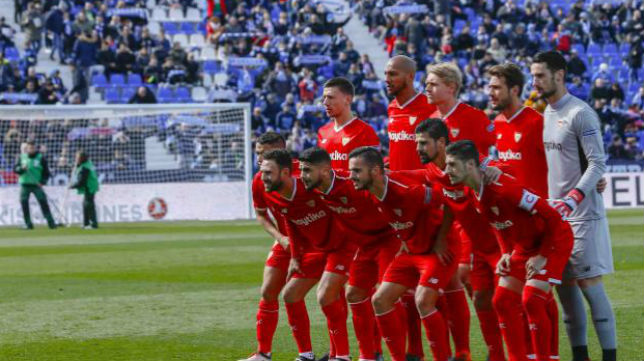 El once del Sevilla FC ante el Leganés. Foto: LaLiga