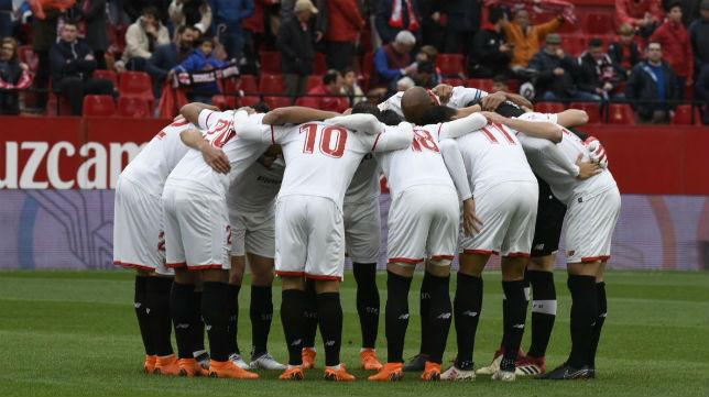 Once del Sevilla FC ante el Athletic. Foto: LaLiga