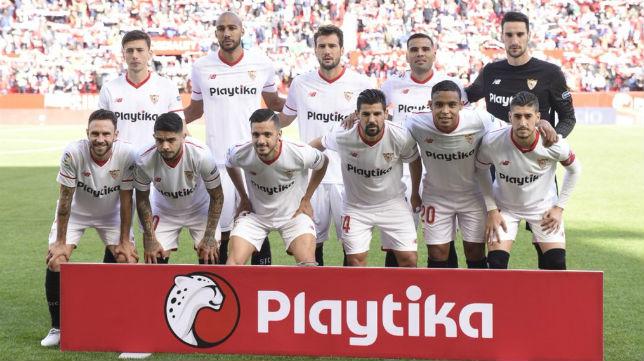 Un once del Sevilla FC esta temporada