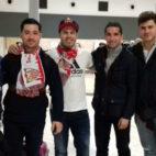 Estos aficionados sevillistas tuvieron suerte de poder viajar a Múnich con el Sevilla