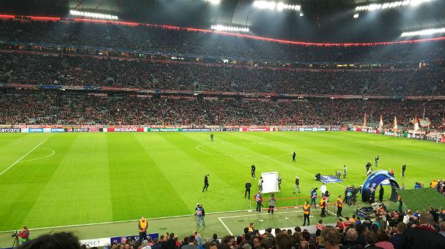 El aspecto del Allianz Arena en la previa del Bayern de Múnich- Sevilla FC