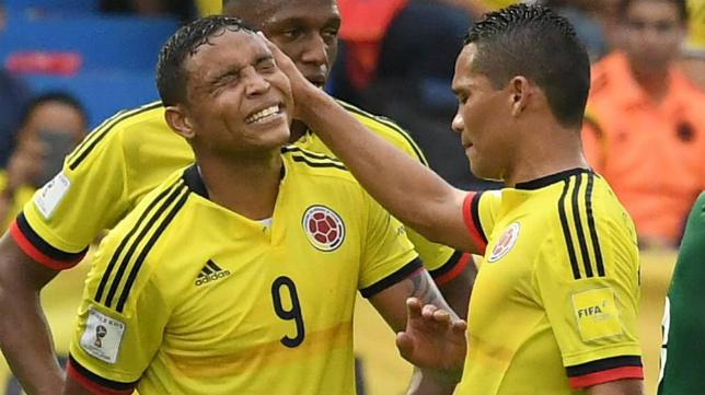Muriel y Bacca, con la selección de Colombia