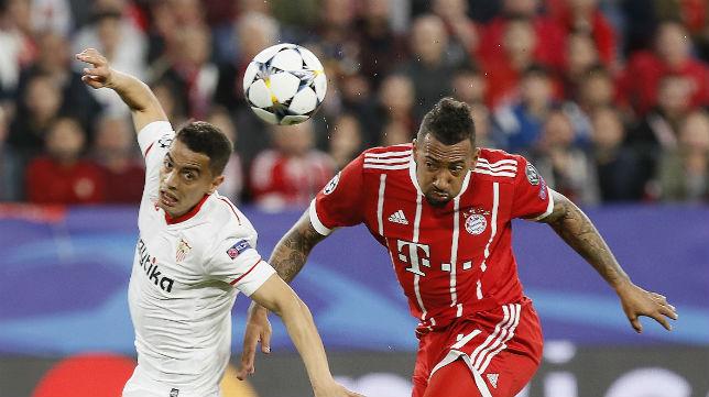 Ben Yedder, en el Sevilla-Bayern Múnich (EFE)