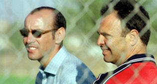 Monchi y Caparrós, en octubre de 2000 (Foto: Raúl Doblado)