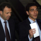 Joaquín Caparrós, con Francisco Lama, en un viaje en la temporada 2000-01