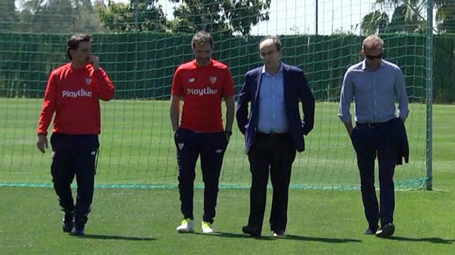 Montella, Maresca, José Castro y Óscar Arias, en Marbella