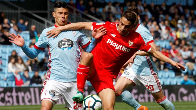 Ben Yedder, en una acción del Celta-Sevilla FC