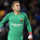 Jasper Cillessen, en un encuentro con el Barcelona en la Copa del Rey (Getty Images)