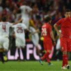 Philippe Coutinho, como jugador del Liverpool, tras caer derrotado ante el Sevilla en la final de Basilea de 2016 (AFP)