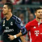Cristiano Ronaldo celebra uno de sus goles en la victoria del Real Madrid por 1-2 ante el Bayern en el Allianz Arena del 12 de marzo de 2017