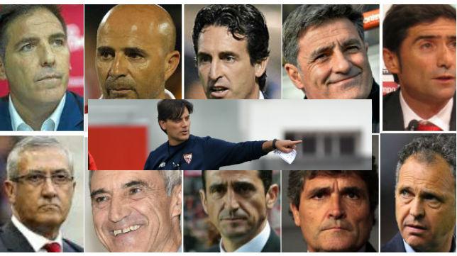 Once son los entrenadores que ha tenido el Sevilla en el siglo XXI