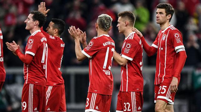Thomas Múller celebra la victoria del Bayern ante el Dortmund (EFE)