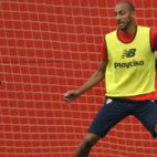 Nzonzi se ejercita en la ciudad deportiva