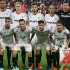 Once del Sevilla ante el Bayern Múnich (Reuters)