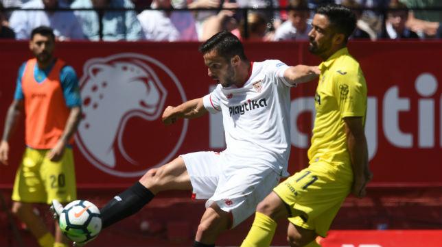Sarabia, en una acción del Sevilla-Villarreal (Foto: J. J. Úbeda/ABC)