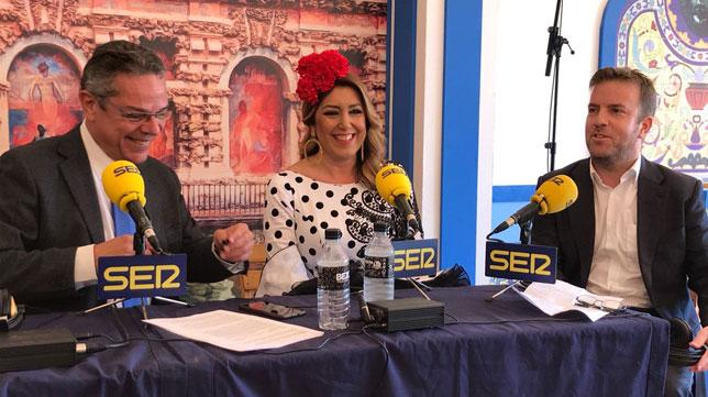 Susana Díaz, en los micrófonos de Radio Sevilla. Foto: @andaluciajunta
