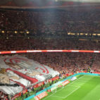 Tifo del Sevilla en la final de la Copa del Rey