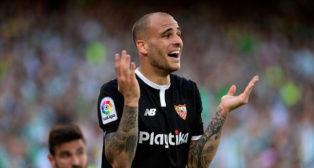 Sandro, durante el Betis-Sevilla (foto: AFP)