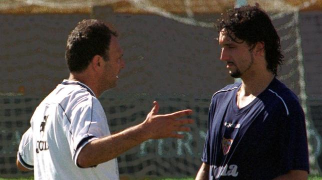 Joaquín Caparrós y Pablo Alfaro, en 2001 (Foto: Vanessa Morillo)