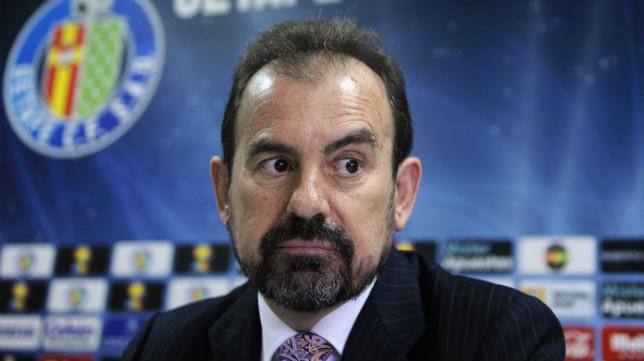 El presidente del Getafe, Ángel Torres