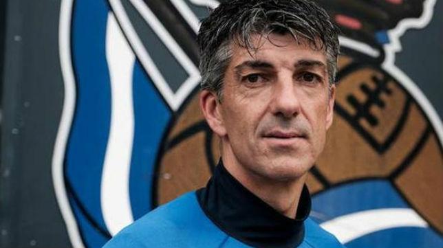 El entrenador de la Real Sociedad, Imanol