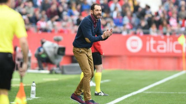 Pablo Machín, durante su estancia en el Girona (Girona FC)