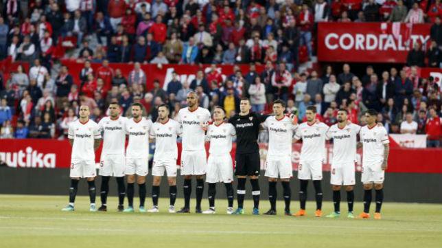 Once del Sevilla FC ante la real Sociedad. Foto: LaLiga