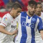 Ben Yedder, en el partido jugado ante el Alavés (Foto: J. J. Úbeda)