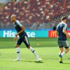 Nzonzi, en un entrenamiento con Francia en el Mundial de Rusia (foto: EFE)