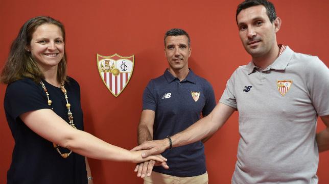 Amparo_Gutiérrez, junto a Paco García y Sergio Jiménez