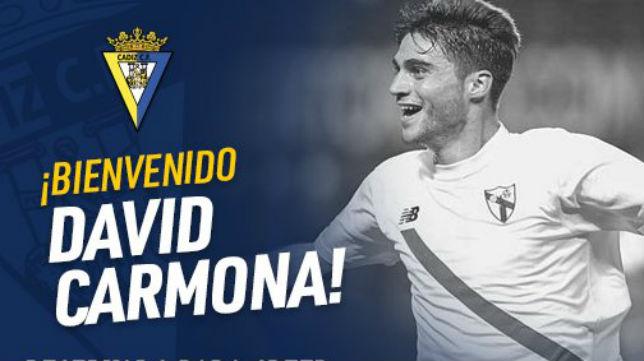 El Cádiz hace oficial el fichaje de David Carmina (CCF)